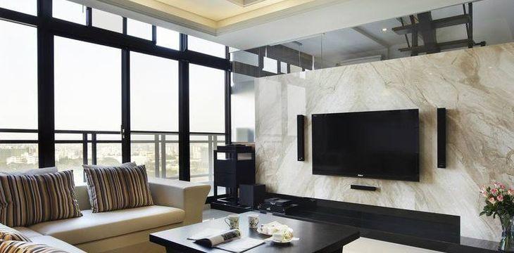 【宏鑫亿装饰】御景水岸中式两居室二居室85㎡